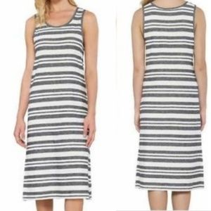 Matty M Charcoal Striped Sundress